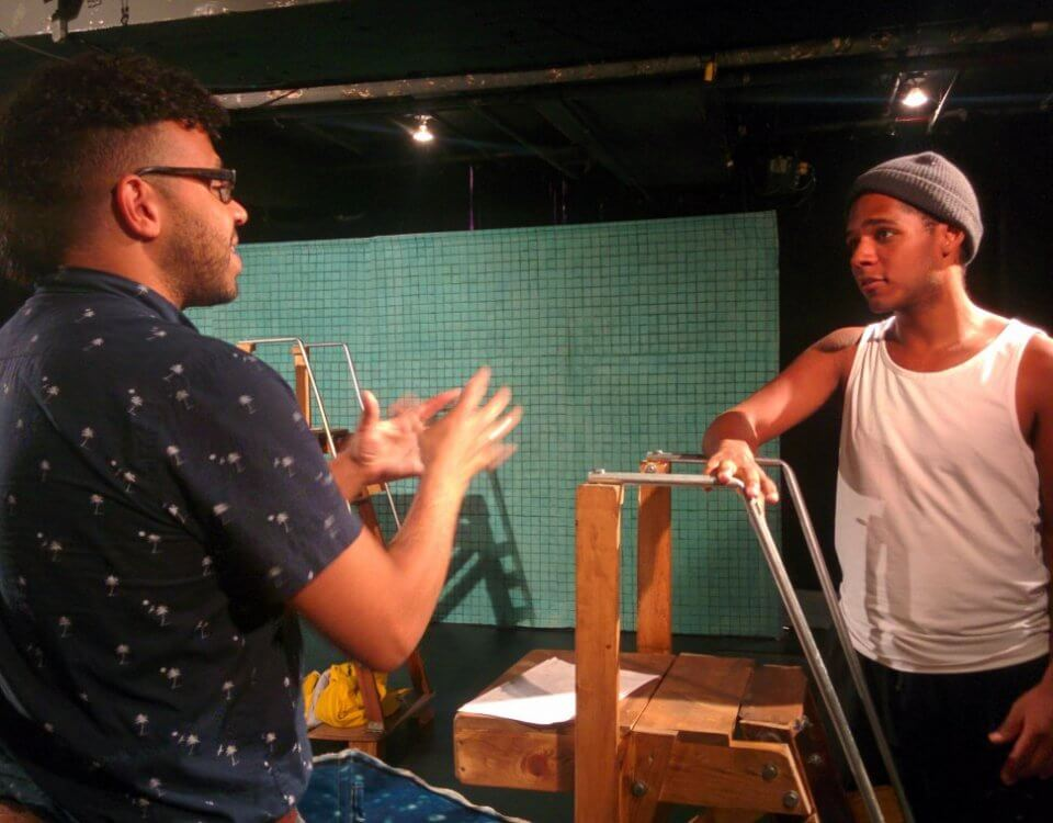 Mike Payette directing 2Play tour actor Dakota Jamal Wellman