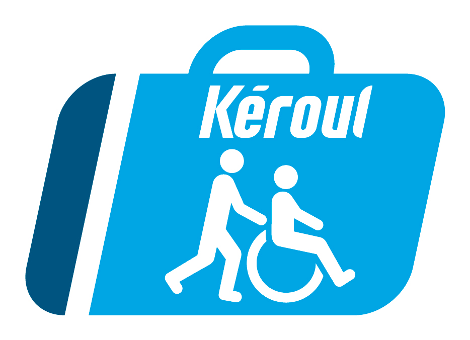 "Icon of a wheelchair user being pushed by another person. This icon means ""partially accessible""."